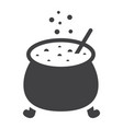 witch cauldron glyph icon halloween and scary vector image vector image