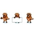 Bison Mascot happy vector image