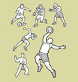 Male sport icons sketch vector image