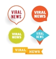 Viral news Labels set vector image