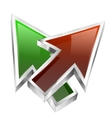 3d color arrows concept icon vector image