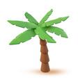 3d tropical palm cartoon vector image