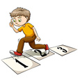 A boy thinking vector image vector image