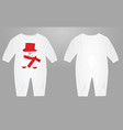 baby suit with snowman vector image vector image