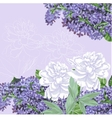 Background with lilac and white peonies vector image vector image