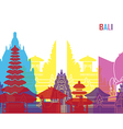 Bali skyline pop vector image vector image