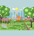 banner landscape scenery vector image vector image