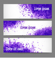 banners with bright grunge splashes on realistic vector image