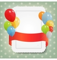 birthday card with colored balloons vector image vector image