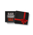 black friday sale design opened empty gift box vector image vector image