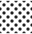 black volleyball ball pattern vector image vector image