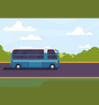 bus on road vector image