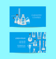 business card template for chemistry vector image vector image
