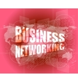 business networking icon on digital screen vector image vector image