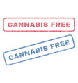 cannabis free textile stamps vector image vector image