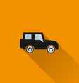 Car icon 6 long shadow vector image vector image