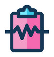 cardiogram medical icon filled line vector image vector image