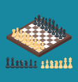 chessboard with chess figures vector image