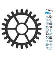 Clock Wheel Icon With Air Drone Tools Bonus vector image