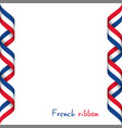colored ribbon with the french tricolor vector image vector image