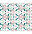 colorful seamless pattern in boho style vector image