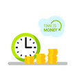 concept of design time is money vector image vector image