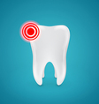 Danger zone on the healthy human teeth vector image vector image