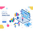 data analysis concept with characters can use for vector image vector image