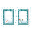 decorative cards for christmas and the new year vector image vector image
