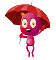 devil with umbrella on white background vector image vector image