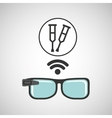 digital glasses wifi medical crutch vector image