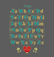 encrypted romantic message - i am in love with you vector image vector image