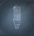 energy saving fluorescent light bulb icon vector image