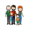 family parents with childrens father mother vector image vector image