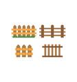 fence logo design template vector image vector image