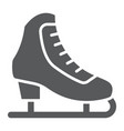 figure skating glyph icon activity and sport vector image vector image