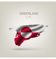 Flag of Greenland as a country vector image