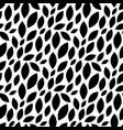 foliage plant seamless pattern background black vector image