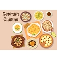 German cuisine traditional dinner icon vector image vector image
