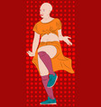 girl dancer in the mystic traditional dance vector image