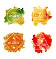 handdrawn watercolor splatter logos vector image vector image