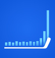 hockey stick in business vector image vector image