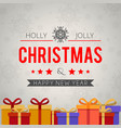 holly jolly christmas and happy new year vector image