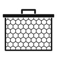honeycombs icon simple style vector image vector image