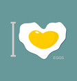 I love scrambled eggs Scrambled eggs as a symbol vector image