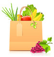 isolated paper bag with vegetables vector image