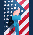 liberty statue hand holding torch over united vector image vector image