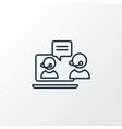 live chat icon line symbol premium quality vector image vector image