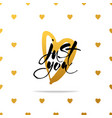 love lettering background vector image