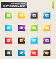 mail and envelope bookmark icons vector image vector image